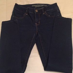 American Eagle Outfitters Jeans - AE Super Stretch Jegging in dark Blue
